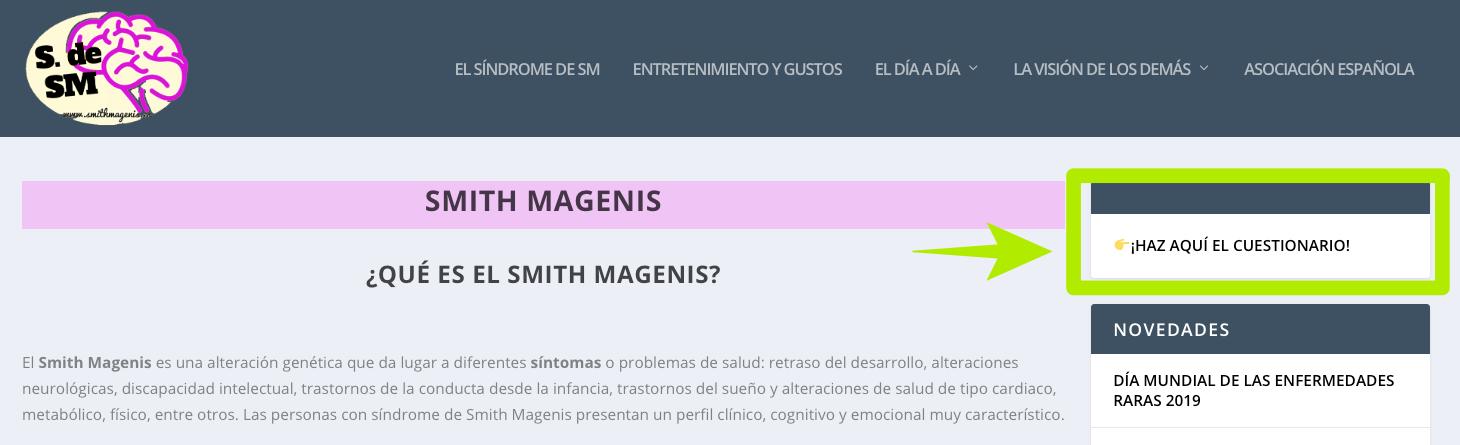 hipersensibilidad sensorial en Smith Magenis