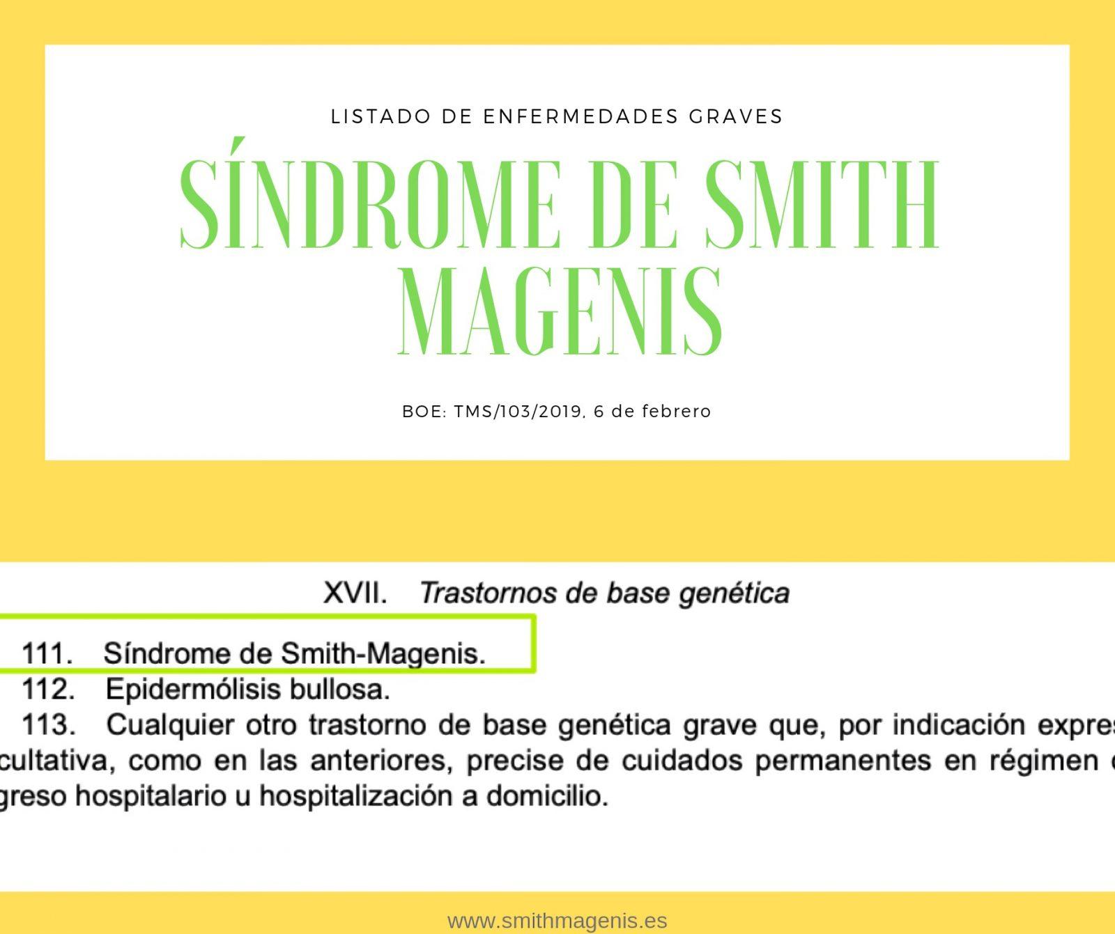prestación económica para padres de Smith Magenis