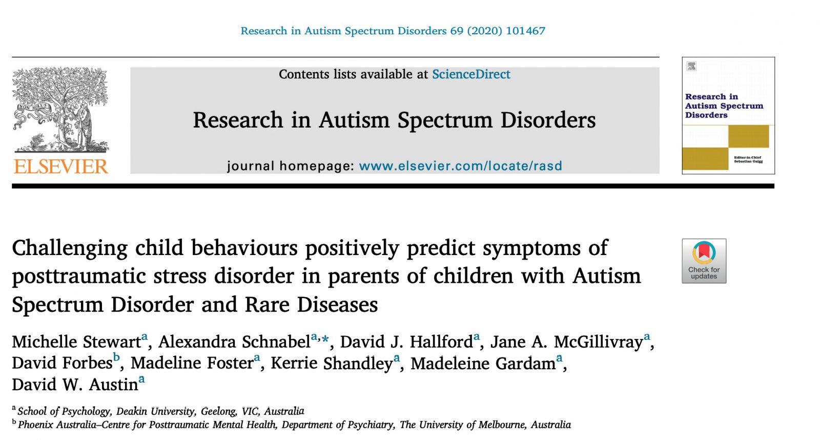 Conductas desafiantes de los hijos y el estrés postraumático